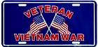 Veteran Vietnam War License Plate