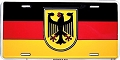 Germany Flag/Eagle License Plate
