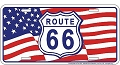 Route 66 Flag License Plate