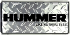 Hummer Diamond License Plate