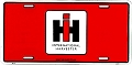 International Harvester Red License Plate