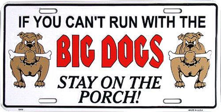 Big Dogs License Plate