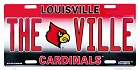 Louisville Cardinals License Plate
