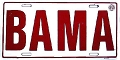 University of Alabama BAMA License Plate