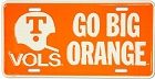 Tennessee Go Big Orange License Plate