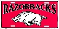 Arkansas Red Razorbacks License Plate
