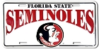 Florida State White Seminoles License Plate