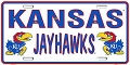 Kansas University Jayhawks License Plate