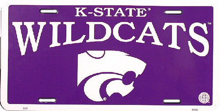 Kansas State U Wildcats License Plate