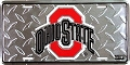 Ohio State Buckeyes Diamond License Plate