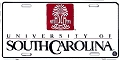 South Carolina Gamecocks White License Plate
