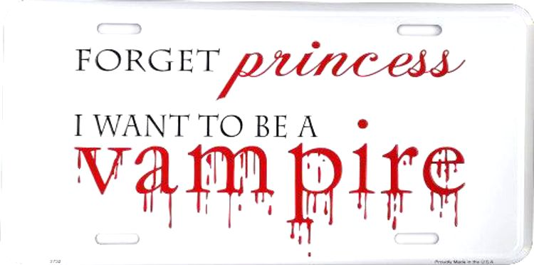 Vampire Princess License Plate