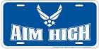Air Force Aim High License Plate