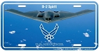 Air Force B-2 License Plate
