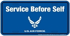Air Force Service License Plate