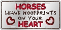 Horse Leave Hoofprints License Plate