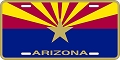 Arizona Flag License Plate