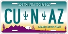 Arizona CU in AZ License Plate