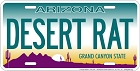 Arizona Desert Rat License Plate