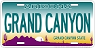 Arizona Grand Canyon License Plate