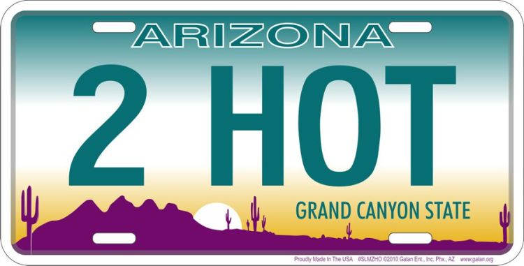 Arizona  - 2 Hot License Plate