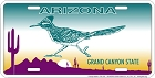 Arizona - Roadrunner License Plate