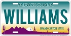 AZ- Williams License Plate