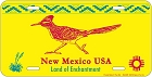 NM Road Runner License Plate