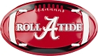University of Alabama Crimson Tide Oval License Plate