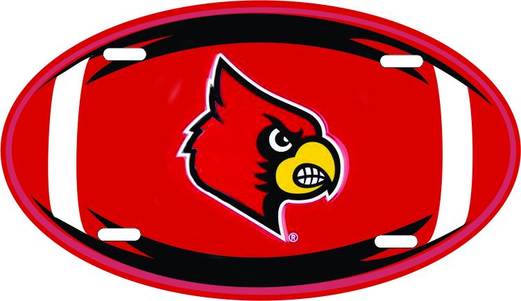 Signs 4 Fun SL2682 Louisville Cardinals Diamond License Plate