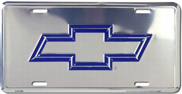Chevy Blue License Plate