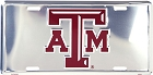 Texas A&M Polished License Plate