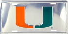 Miami Polished License Plate