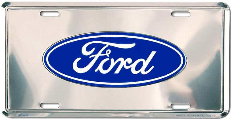 Ford Blue Logo License Plate