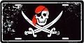 Pirate Skull License Plate