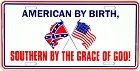 American By Birth License Plate