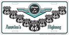 Route 66 Wings & States License Plate