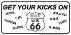 Route 66 - Get Your Kicks All States B&W License Plate