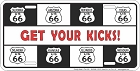 Route 66 Kicks License Plate