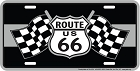 Route 66 Racing Flags License Plate