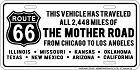 Route 66 Mother Road License Plate