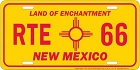 New Mexico Rt. 66 License Plate