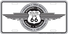 Route 66 Wings License Plate