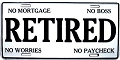 Retired Worker License Plate