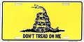 Dont' Tread On Me License Plate