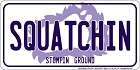 Squatchin'  License Plate