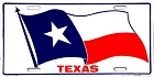 Texas Waving Flag License Plate