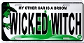 Wicked Witch License Plate