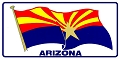 Arizona Waving Flag License Plate