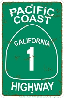 Pacific Coast Highway Sm. Parking Sign